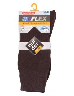 nur der 3D-Flex Komfort Socke Gr. 39-42 braun  (1 St.) - 4003015583229