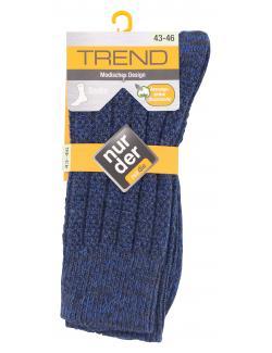 nur der Trend Socke Gr. 43-46 blau  (1 St.) - 4003015583601