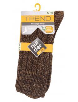 nur der Trend Socke Gr. 43-46 braun  (1 St.) - 4003015583564