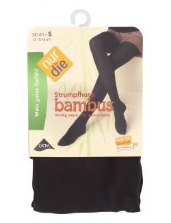 nur die Bambus Strumpfhose Gr. 38-40 S dunkelbraun  (1 St.) - 4003015060027