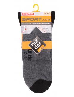 nur der Sport Ultra Socke Gr. 47-48 mittelgraumeliert  (1 St.) - 2000435541565