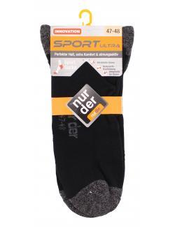 nur der Sport Ultra Socke Gr. 47-48 schwarz  (1 St.) - 4003015605099