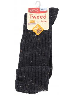 nur die Tweed Socke Gr. 39-42 granit  (1 St.) - 4003015675900