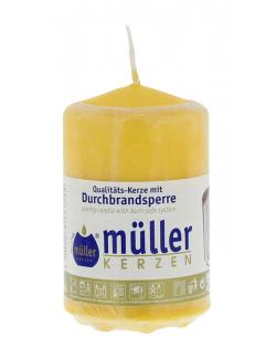 M�ller-Kerzen Stumpenkerze goldgelb  (1 St.) - 4009078221528