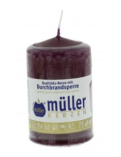 M�ller-Kerzen Stumpenkerze weinrot  (1 St.) - 4009078056151