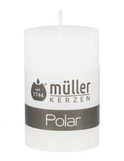 Müller-Kerzen Stumpenkerze weiß  (1 St.) - 4009078142854