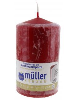 M�ller-Kerzen Stumpenkerze karminrot  (1 St.) - 4009078061148