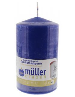 M�ller-Kerzen Stumpenkerze indigo  (1 St.) - 4009078046107
