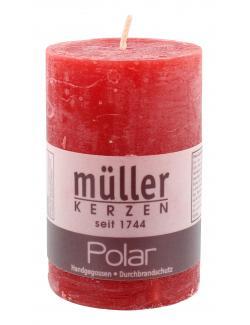 M�ller-Kerzen Polar Stumpenkerze rot  (1 St.) - 4009078142878