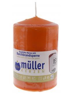 M�ller-Kerzen Stumpenkerze mandarin  - 4009078495660