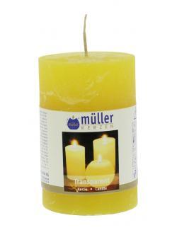 Müller-Kerzen Stumpenkerze gelb  (1 St.) - 4009078497947