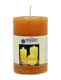 Müller-Kerzen Stumpenkerze mandarin  (1 St.) - 4009078495851
