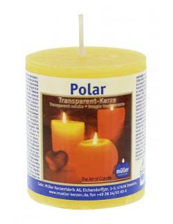 Müller-Kerzen Polar Transparent-Kerze gelb  - 4009078632003