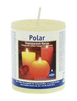 M�ller-Kerzen Polar Transparent-Kerze vanille  - 4009078631990
