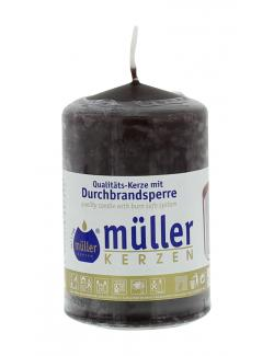 M�ller-Kerzen Stumpenkerze schokobraun  (1 St.) - 4009078847346