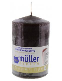 M�ller-Kerzen Stumpenkerze schokobraun  (1 St.) - 4009078847353