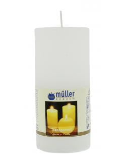 M�ller-Kerzen Transparent-Kerze wei�  (1 St.) - 4009078631778