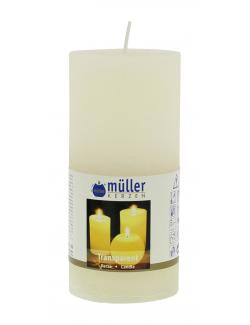Müller-Kerzen Transparent-Kerze vanille  (1 St.) - 4009078631785