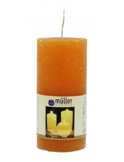 M�ller-Kerzen Stumpenkerze transparent mandarin  (1 St.) - 4009078631808
