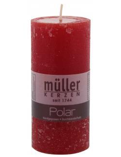 Müller-Kerzen Polar Stumpenkerze rot  (1 St.) - 4009078631815