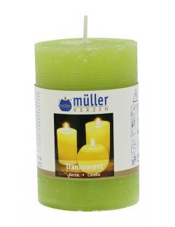 Müller-Kerzen Transparent-Kerze maigrün  (1 St.) - 4009078142267
