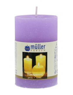 Müller-Kerzen Transparent-Kerze flieder  (1 St.) - 4009078221481