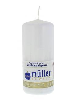 M�ller-Kerzen Stumpenkerze wei�  (1 St.) - 4009078252843