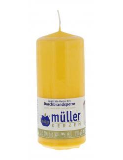 M�ller-Kerzen Stumpenkerze goldgelb  (1 St.) - 4009078252935