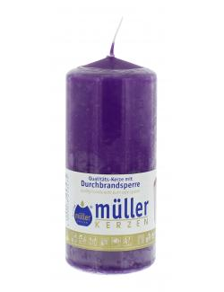 Müller-Kerzen Stumpenkerze violett  (1 St.) - 4009078253475