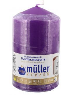 M�ller-Kerzen Stumpenkerze violett  (1 St.) - 4009078241489
