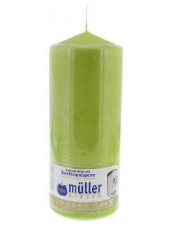 Müller-Kerzen Stumpenkerze maigrün  (1 St.) - 4009078736398