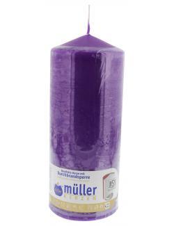 M�ller-Kerzen Stumpenkerze violett  (1 St.) - 4009078241458