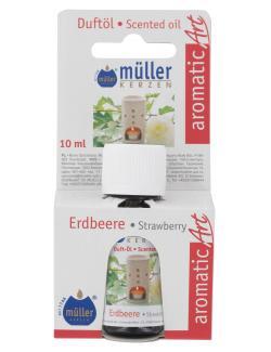 M�ller-Kerzen Duft�l aromaticArt Erdbeere  (10 ml) - 4009078250436