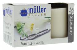 M�ller-Kerzen Duft-Votivlicht aromaticArt vanilla  (2 St.) - 4009078249683