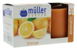 M�ller-Kerzen Duft-Votivlicht aromaticArt Orange  (2 St.) - 4009078249706