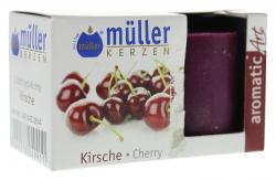 Müller-Kerzen Duft-Votivlicht aromaticArt Kirsche  (2 St.) - 4009078249911