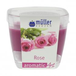 Müller-Kerzen Duft-Kerzenglas aromaticArt Rose  (1 St.) - 4009078250214