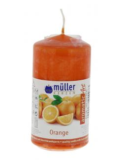 Müller-Kerzen Duft-Stumpenkerze aromaticArt Orange  (1 St.) - 4009078249973