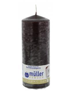 M�ller-Kerzen Stumpenkerze schokobraun  (1 St.) - 4009078253239