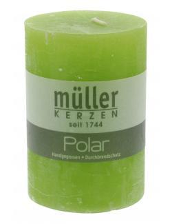 M�ller-Kerzen Polar Stumpenkerze maigr�n  (1 St.) - 4009078744294