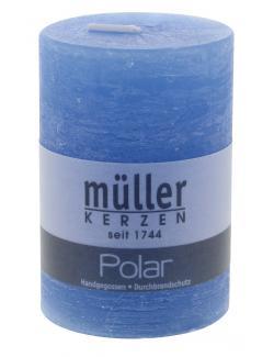 M�ller-Kerzen Polar Stumpenkerze hellblau  (1 St.) - 4009078221474
