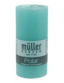 Müller-Kerzen Polar Stumpenkerze türkisgrün  (1 St.) - 4009078253314
