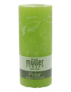 Müller-Kerzen Polar Stumpenkerze maigrün  (1 St.) - 4009078860895