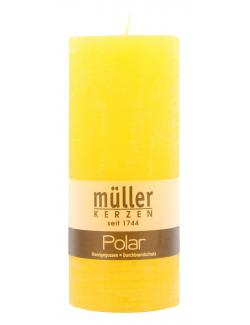 Müller-Kerzen Polar Stumpenkerze gelb  (1 St.) - 4009078860864