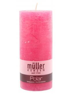 Müller-Kerzen Polar Stumpenkerze fraise  (1 St.) - 4009078221399