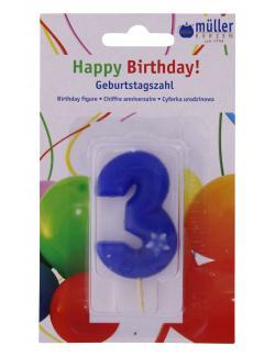 M�ller-Kerzen Geburtstagszahl  (1 St.) - 4009078323611