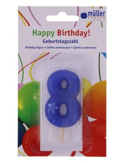 M�ller-Kerzen Geburtstagszahl  (1 St.) - 4009078323727