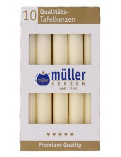 M�ller-Kerzen Tafelkerze vanille  (10 St.) - 4009078317139