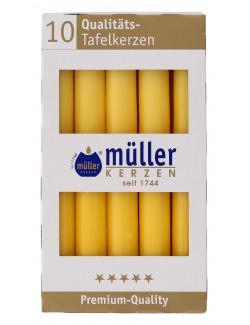 M�ller-Kerzen Tafelkerze goldgelb  (10 St.) - 4009078382632