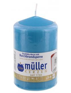 M�ller-Kerzen Stumpenkerze aqua  (1 St.) - 4009078392563